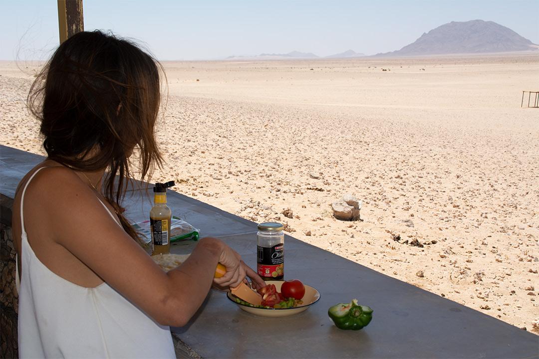 Cuisiner dans le désert - Workaway