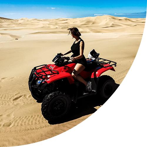Jeep dans le desert